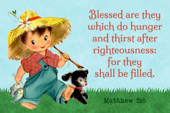 for they shall be filled Free Christian Message Card copy
