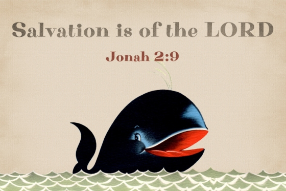 Salvation is of the LORD free Christian Message Card copy
