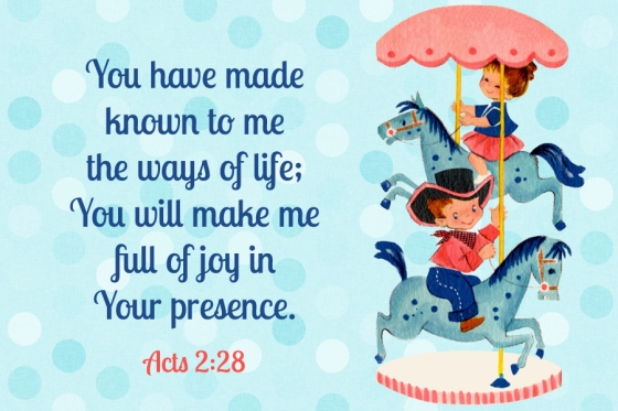 Full of joy in Your presence Free Christian Message Card copy